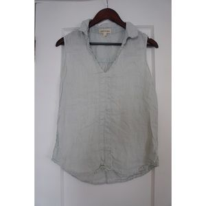 Anthro Cloth & Stone Mint Linen Sleeveless Top